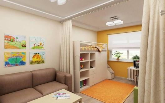 Зонировать детскую комнату