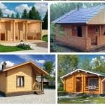 Дачные дома из бруса, бани из бруса: основные достоинства