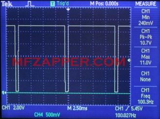 T - правоъгълен сигнал с 95% запълване