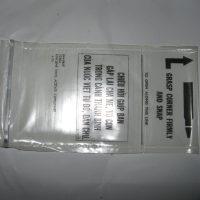 Plastic magazine storage bags.