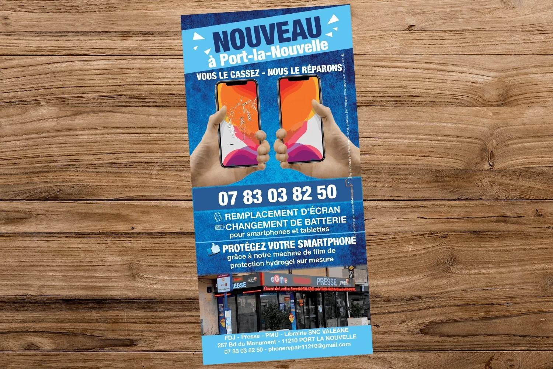 Flyer PhoneRepair Port la Nouvelle