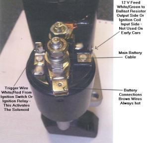 Preengaged Lucas Starter Motor ELECTRICAL CONNECTION