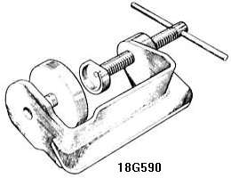 Disc brake piston resetting tool (Lockheed)