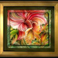 """Cattleya, Queen of Orchids"" (Sold, benefitting Memphis Botanic Garden 2020)"