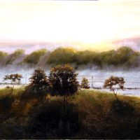 Morning 17×44 oil on canvas 2011