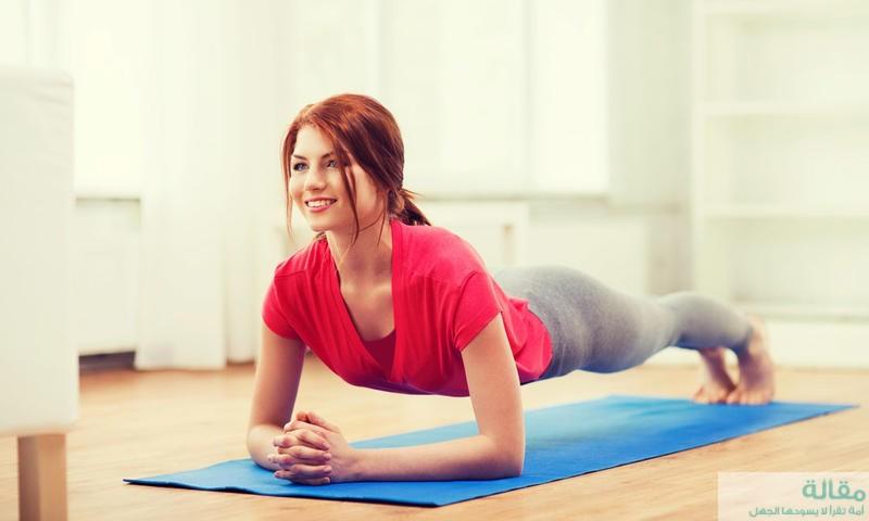 فوائد تمرين البلانك لشد عضلات البطن