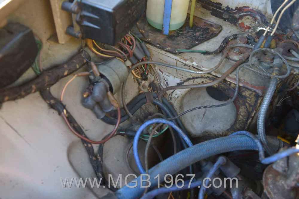 medium resolution of 1967 mgb gt engine compartment starting solenoid