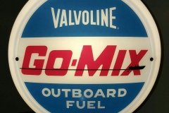 Valvolene Go Mix Outboard Fuel Vintage Gas Pump Globe