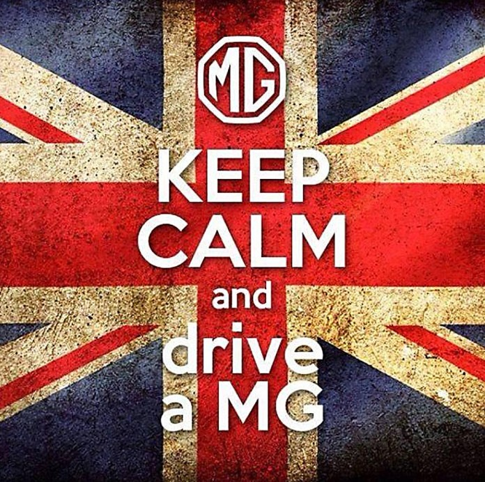 KEEP CALM and drive a MG