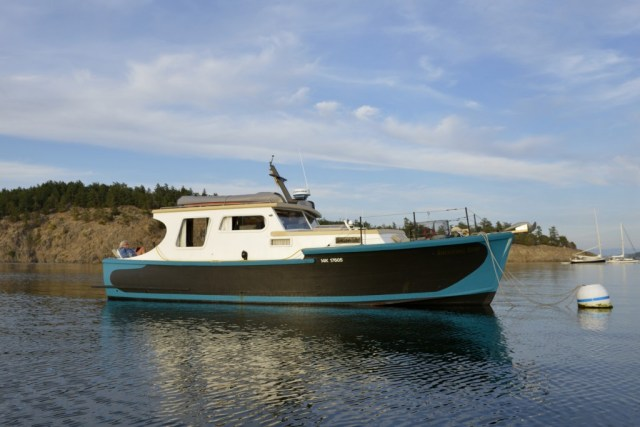 "My old boat ""Shooting Star"" in the San Juan Islands, Washington"