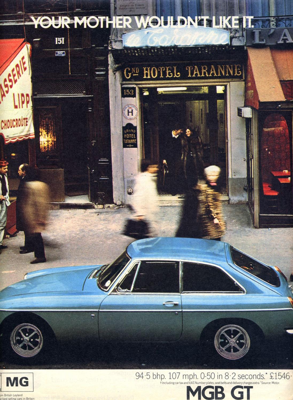 My 1967 MGB GT in Paris