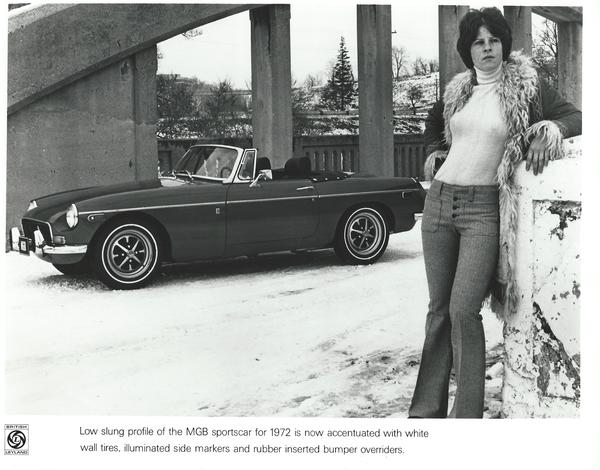 MGB 1972 brochure image with women with perky breasts.