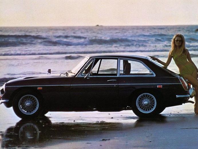 1969 MG MGC GT USA publicity photo