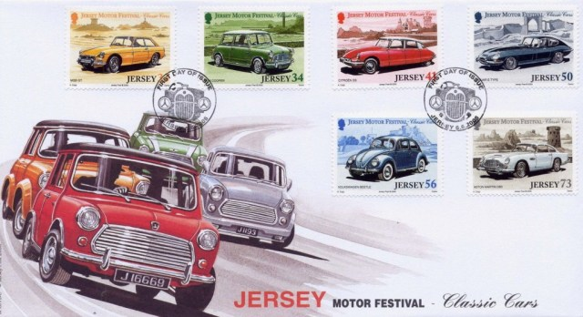 Jersey Motor Festival Classic Cars 2005 Stamps