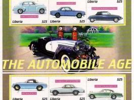 Liberia - The Automobile Age stamps