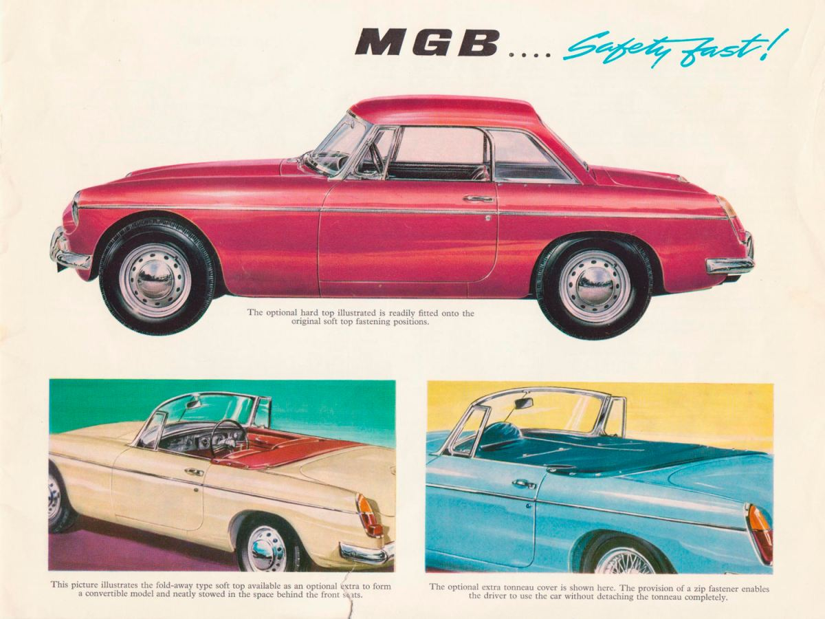 1967 MG MGB Roadster brochure from 1966