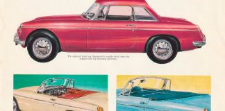 1967 MG MGB Roadster brochure tops available