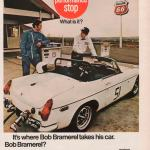 1970 MG MGB Rally Car Convertible Bob Bramarel Phillips 66 Gas Station Pump