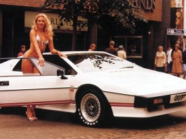 James Bond Lotus Esprit Turbo and bikini babe