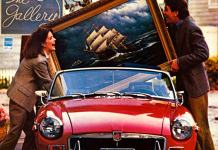 Loading painting into MG MGB Roadster