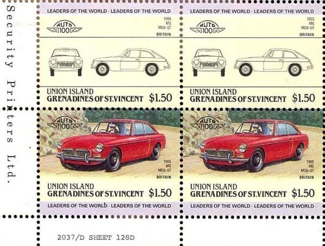 MGB GT - Grenadines of St. Vincent Stamp