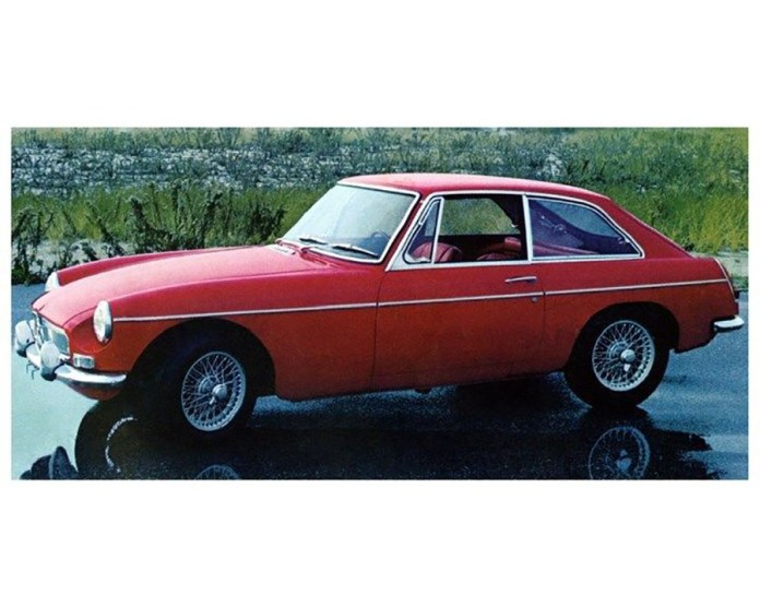 1967 MG MGB GT red promo photo