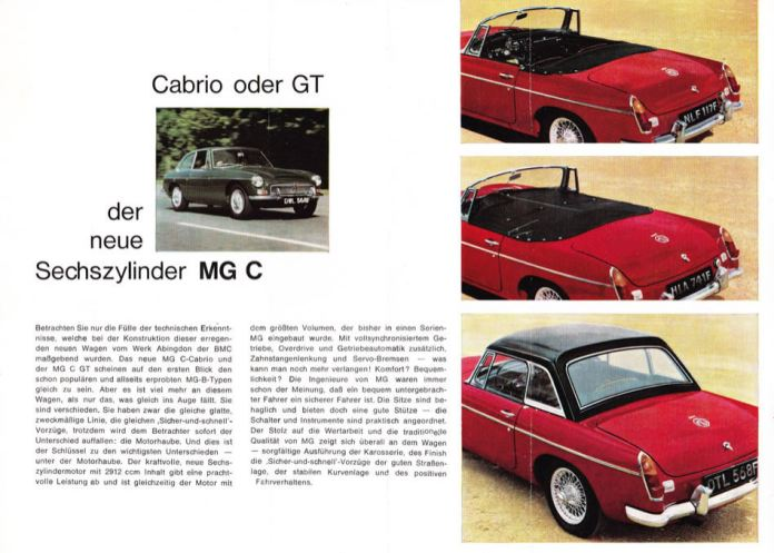1967 MG MGC Brochure German page 2