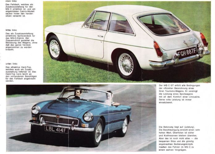 1967 MG MGC Brochure German page 3
