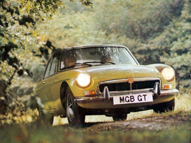 1973 MGB GT promo photo color