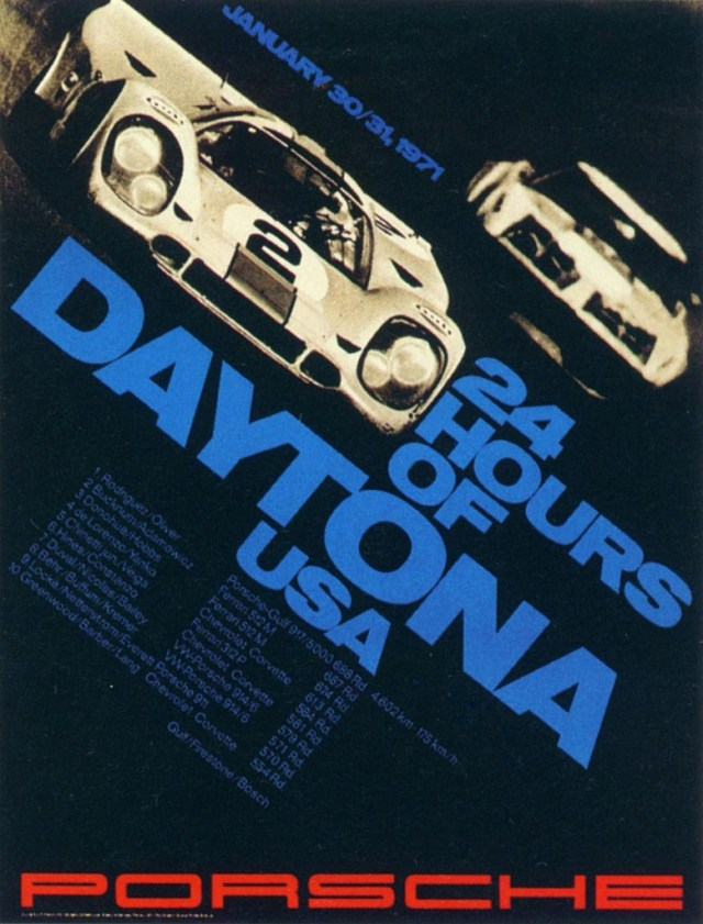 24 Hours of Daytona 1971 poster