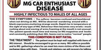 Beware MG Car Enthusiast Disease