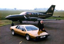 Colin Chapman Lotus Esprit S2 and the John Player Team Lotus Cessna 414