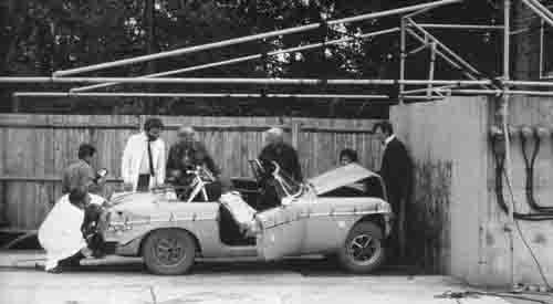 MG MGB roadster crash test