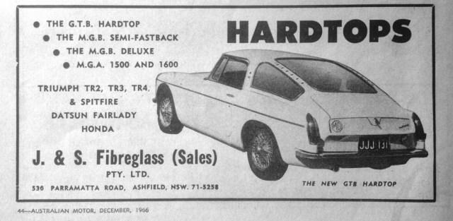 MG GTB Hardtop