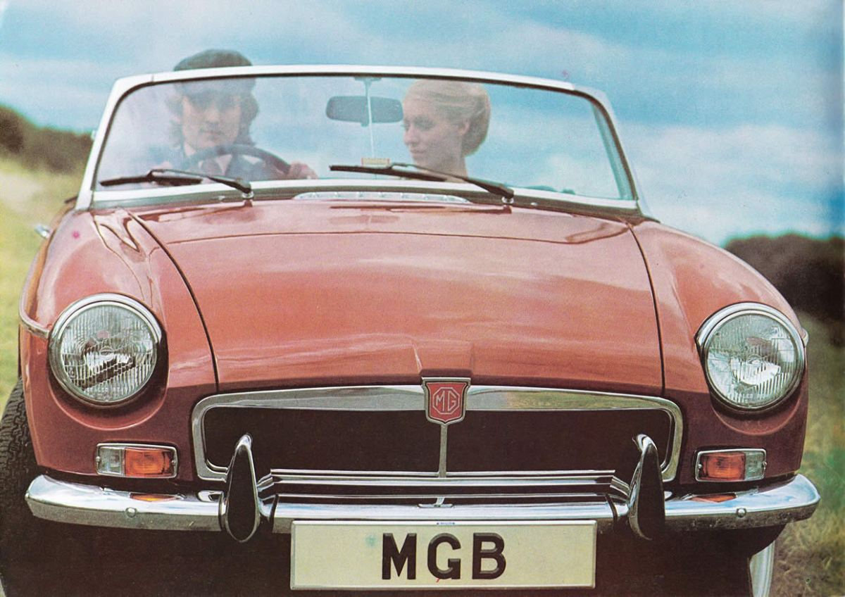 1973 MG MGB brochure in Dutch