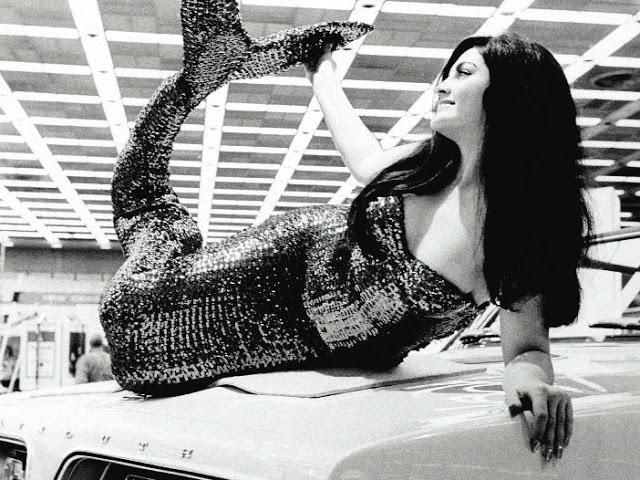 WTF Plymouth Barracuda mermaid