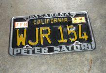 Peter Satori California license plate