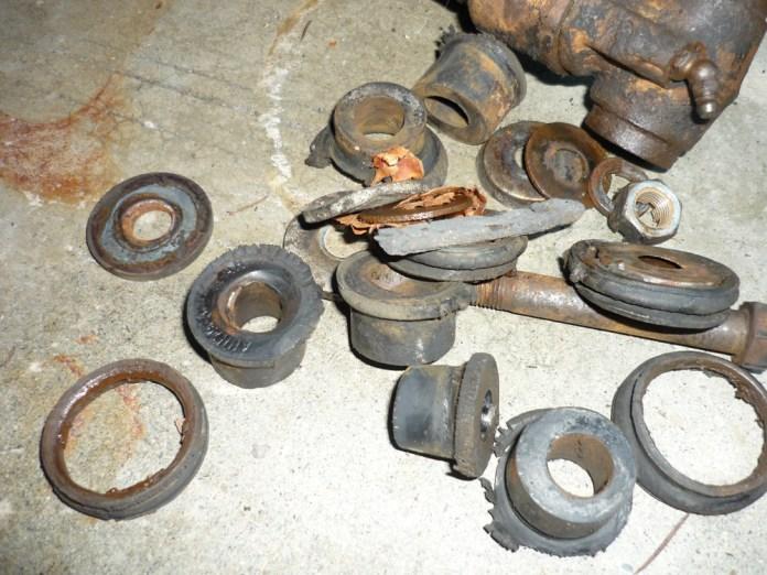 Ratty MGB GT suspension bushings