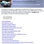 Early MGB web site