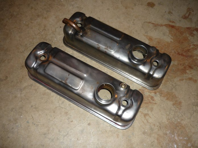 MGB valve covers almost ready for paint. What colour?
