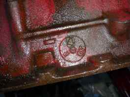 1967 MGB 1800 block date stamp