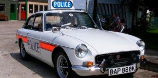 MGB GT Police car