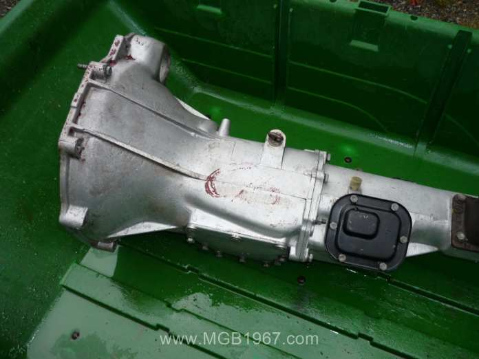 Nicely cleaned 1967 MGB GT transmission