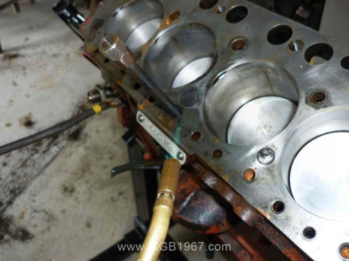 Heating the frozen MGB Cylinder Head Bolt
