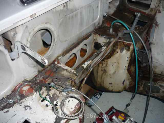 Location for MGB GT heater box