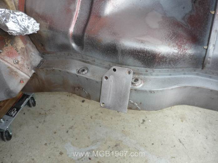 Media blasted MGB motor mounts