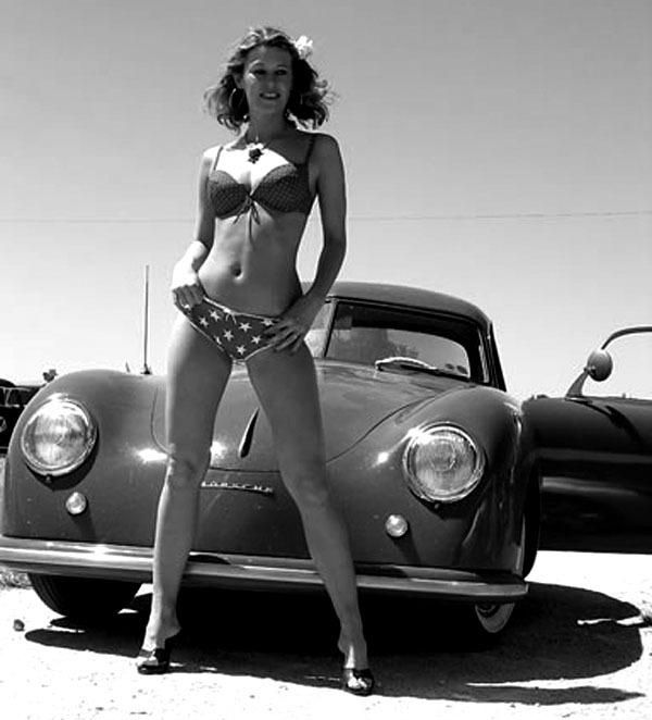 Porsche 356 bikini girl