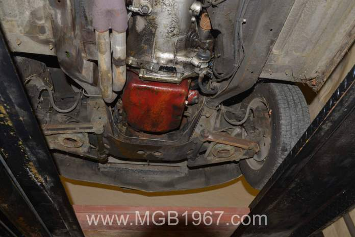 Oily MGB GT two years ago