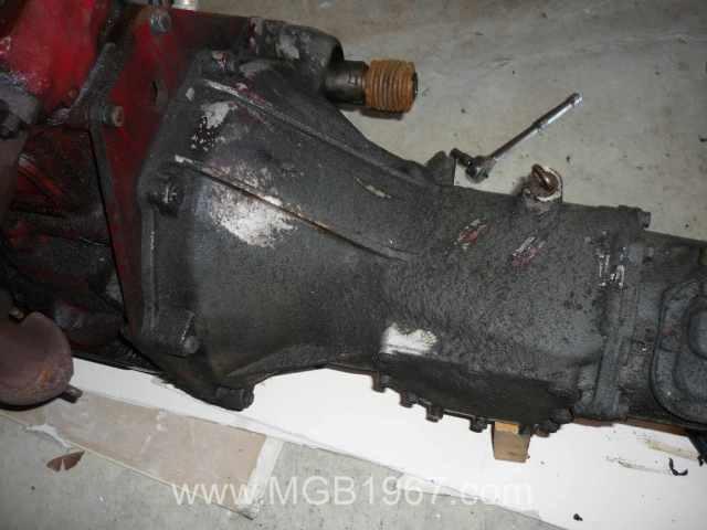 Filthy MGB GT transmission