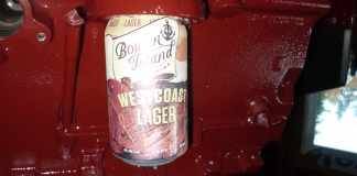 MGB engine beer can holder